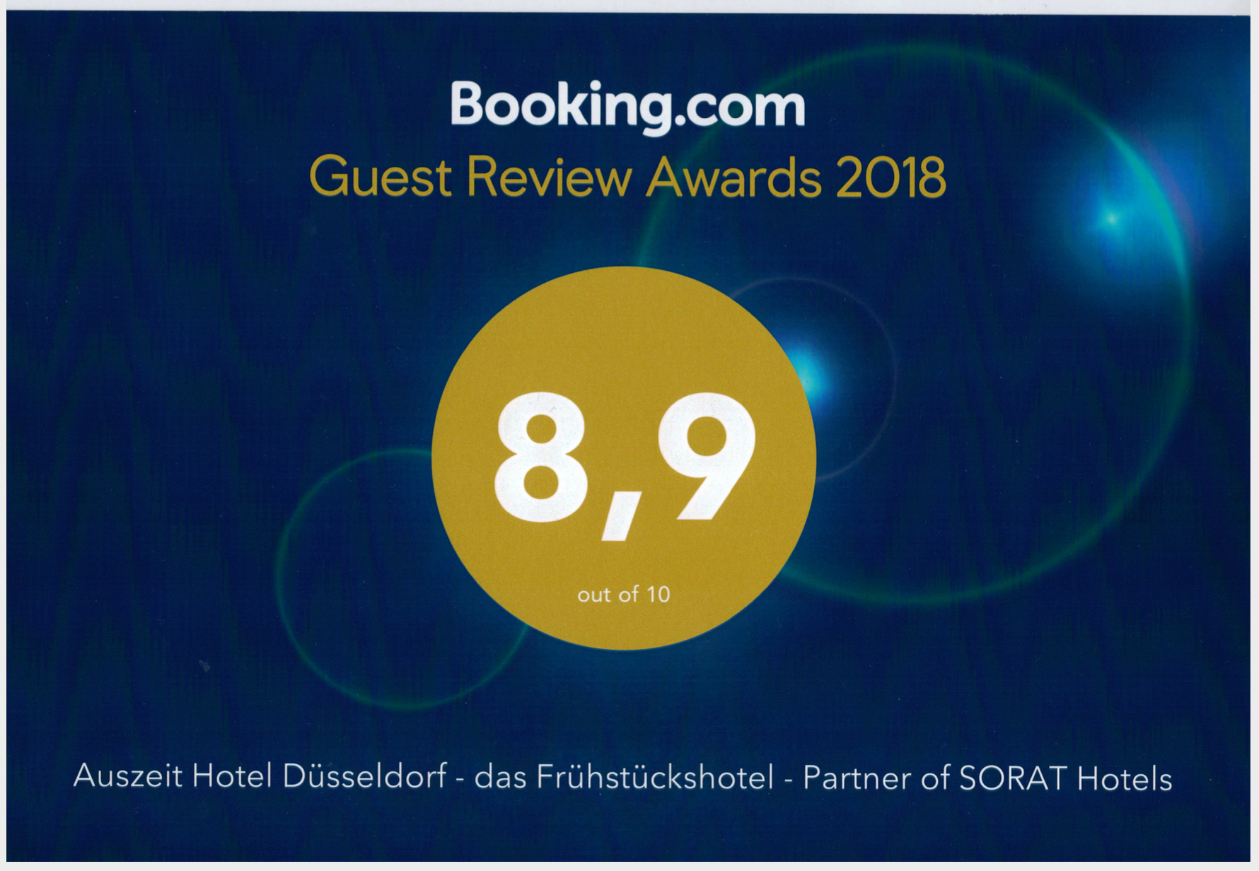 Booking.com Guest review Award 2019