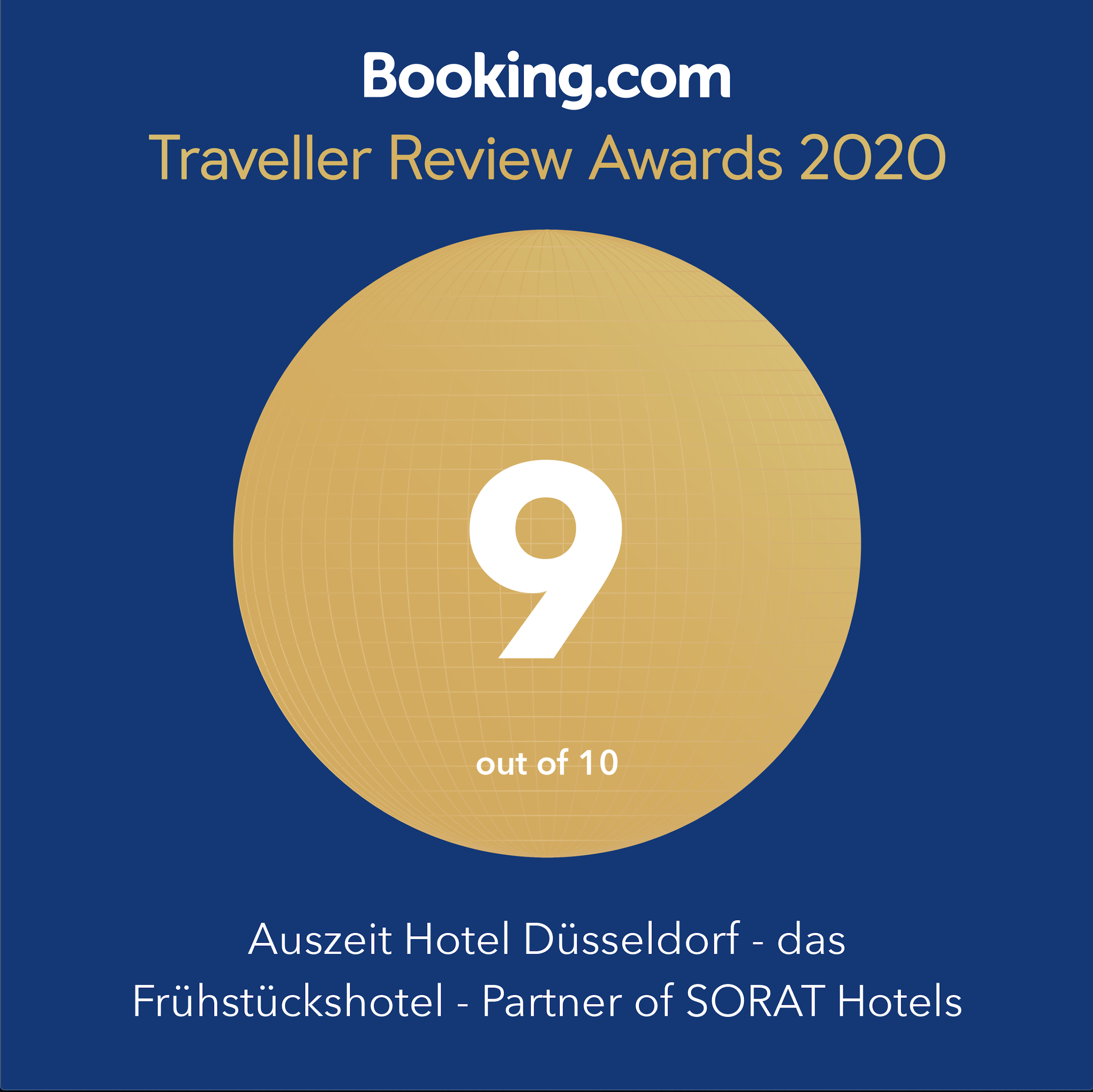 Booking.com Traveller Review Award 2020