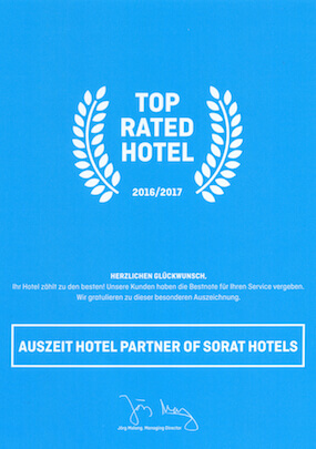 TOP RATED HOTEL 2016/2017